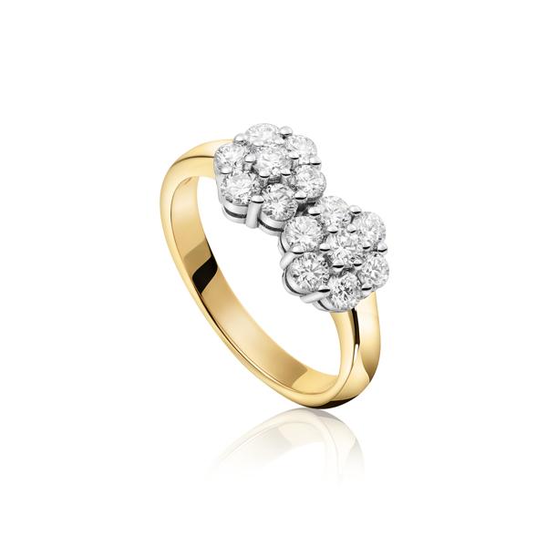 Exclusieve sollitairring met diamanten